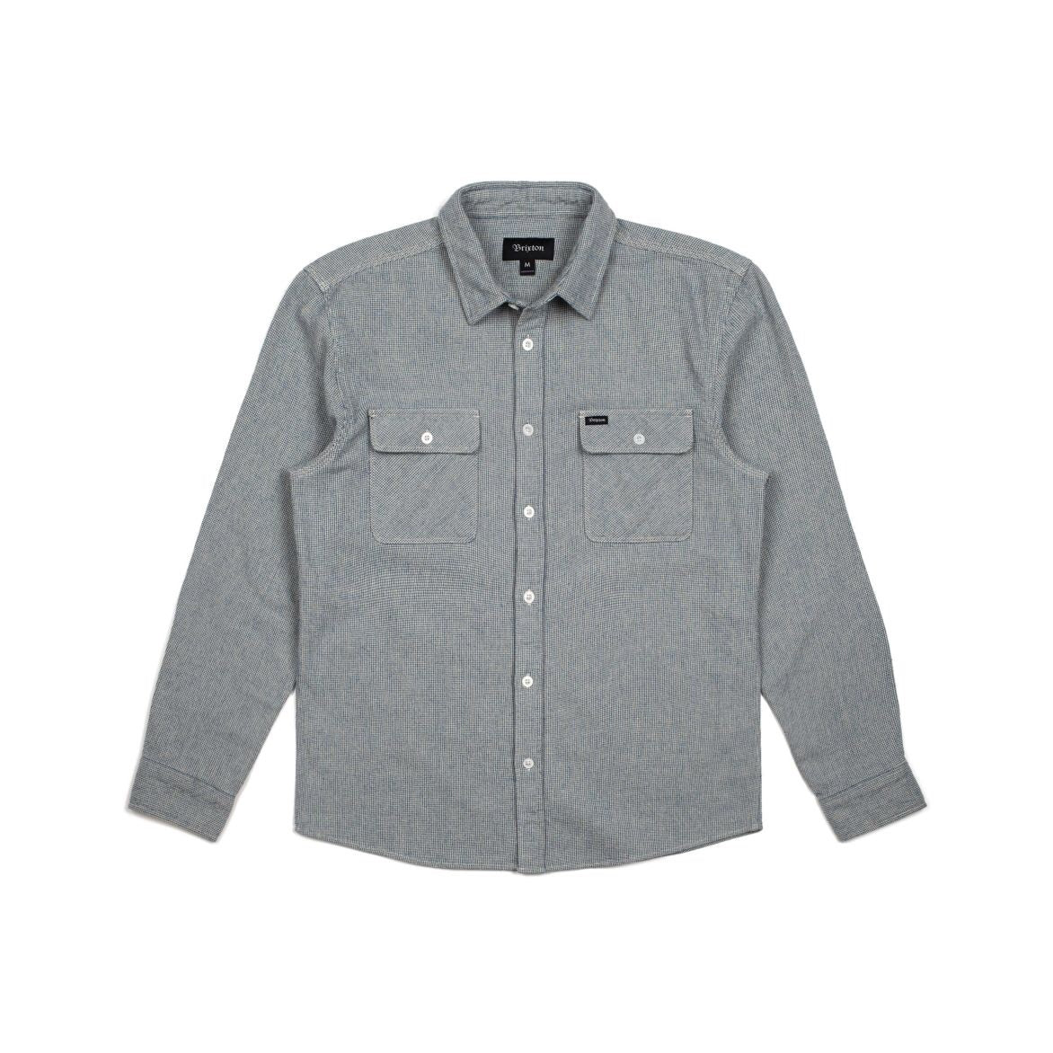 Bowery Flannel Light Blue/White