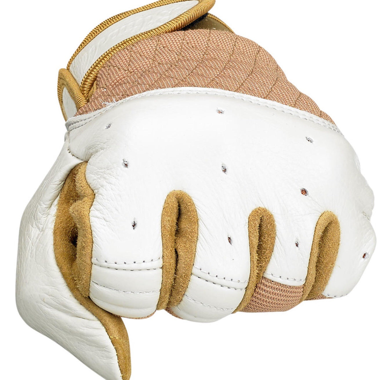 Bantam Gloves White/Tan
