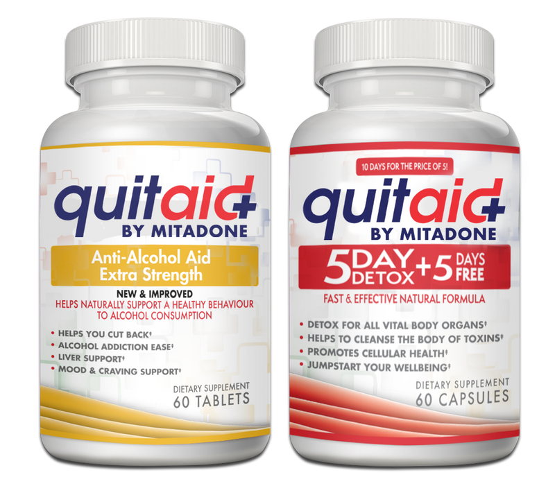 Mitadone Alcohol Aid and 5 Day Detox Combo Pack