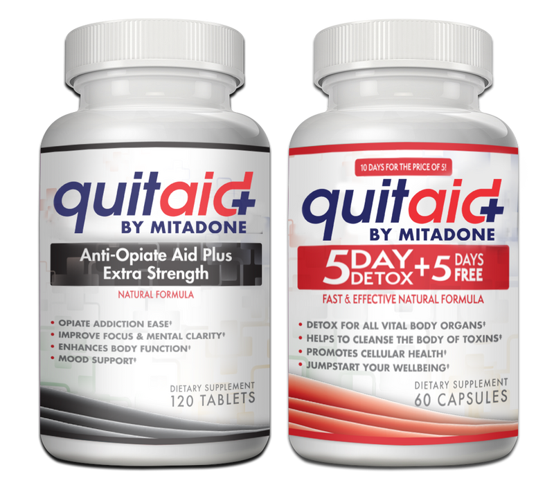 Mitadone Anti Opiate Aid & 5 Day Detox Combo Pack