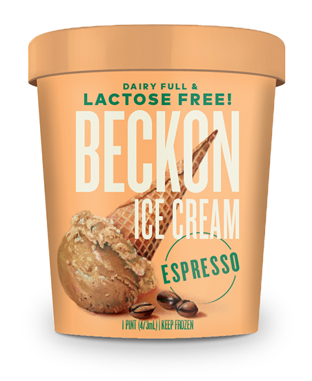 Beckon Ice Cream. Lactose Free Ice Cream. Real Ice Cream. Espresso Ice Cream. Boston, Massachusetts.