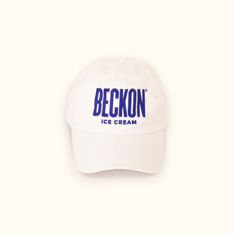 Beckon Logo Hat in White