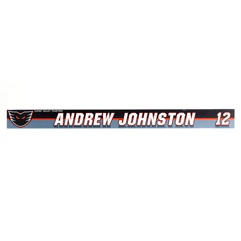 #12 ANDREW JOHNSTON -HOME LOCKER ROOM NAME PLATE