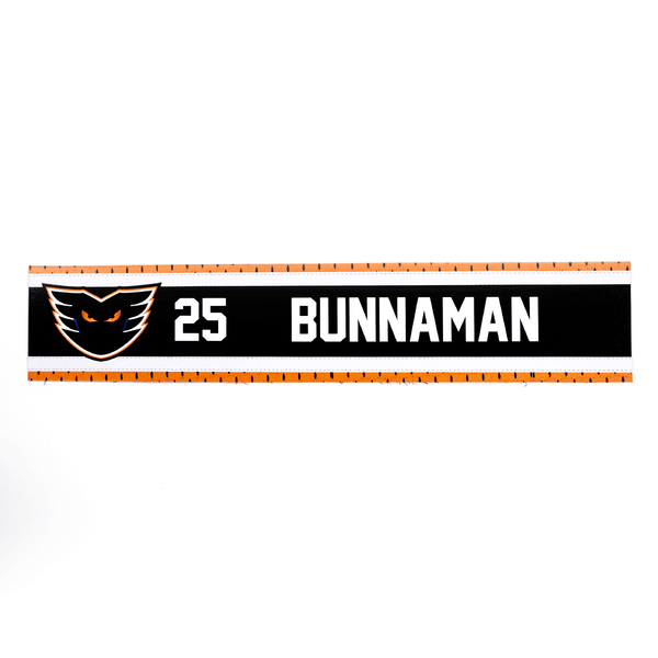 #25 Connor Bunnaman Road Name Plate