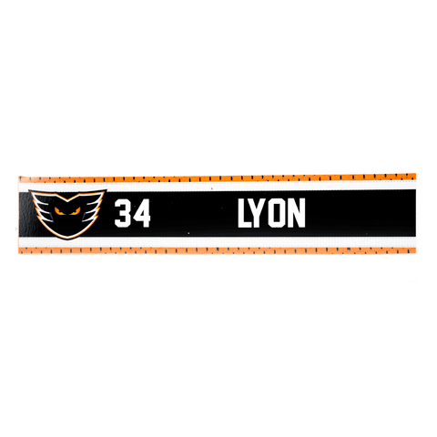 #34 Alex Lyon Road Name Plate