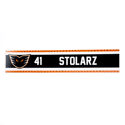 #41 Anthony Stolarz Road Name Plate
