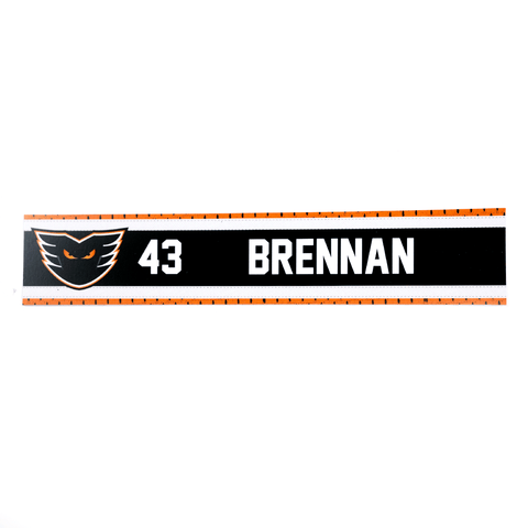 #43 TJ Brennan Road Name Plate
