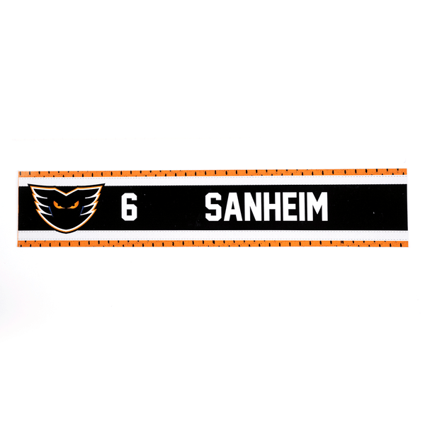 #6 Travis Sanheim Road Name Plate