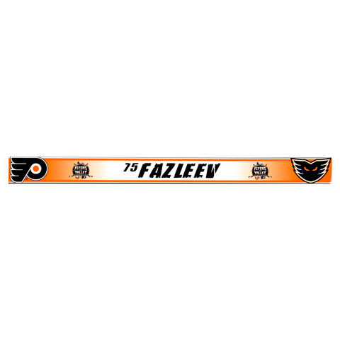 #75 Radel Fazleev- Locker Room Name Tag - Flyers In The Valley