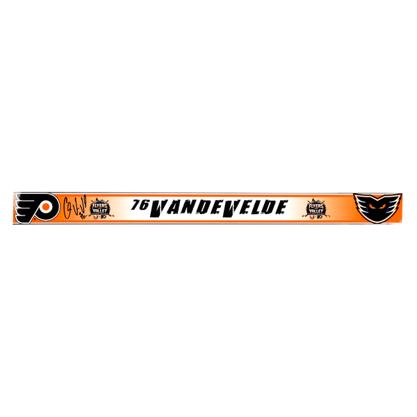 #76 Chris VandeVelde - Flyers In The Valley - Locker Room Name Tag