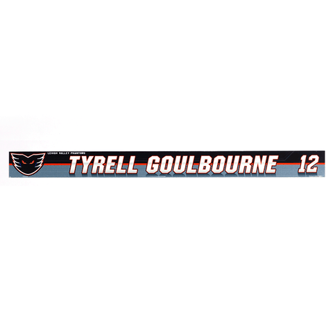 #12 Tyrell Goulbourne Locker Room Name Plate