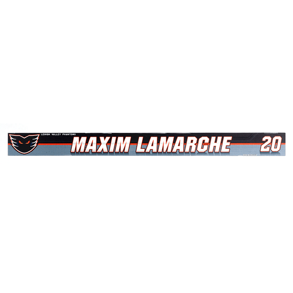 #20 Maxim Lamarche Locker Room Name Plate