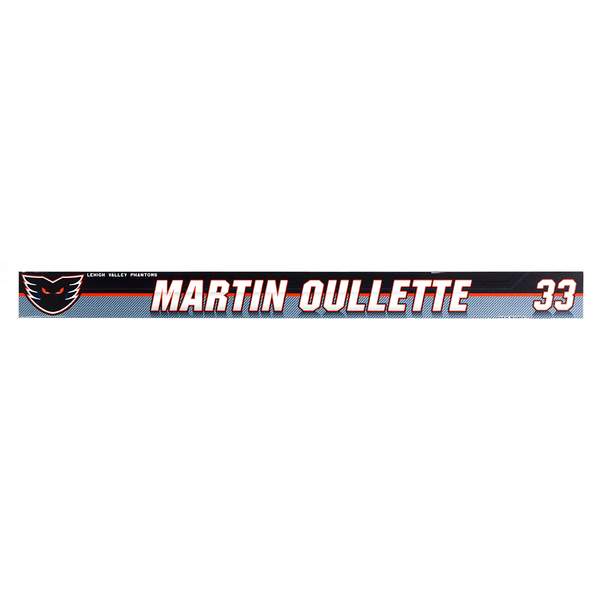 #33 Martin Oullette Locker Room Name Plate