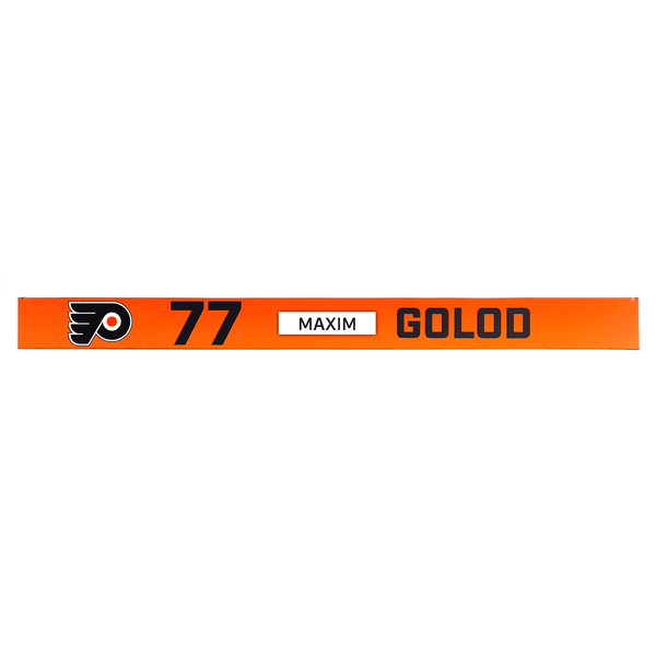 #77 Maxim Golod - Rookie Game Locker Room Name Plate