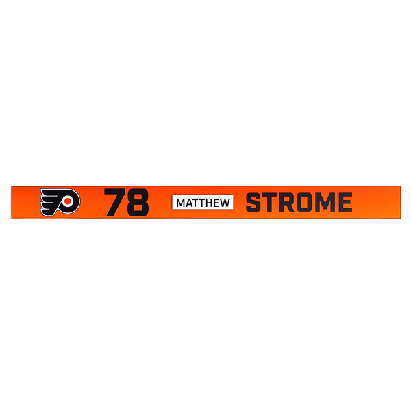 #78 Matthew Strome Rookie Game Locker Room Name Plate