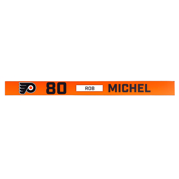 #80 Rob Michel Rookie Game Locker Room Name Plate
