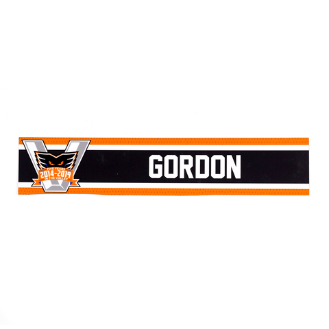Head Coach - Scott Gordon - Road Locker Room Name Plate (no autographed)