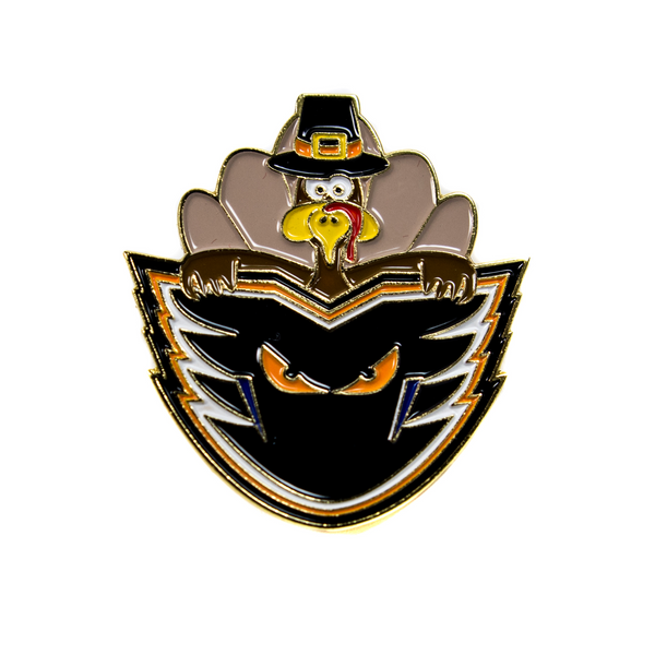 Phantoms Happy Thanksgiving Pin