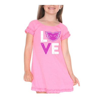 Phantoms Love Pink Ruffled Dress