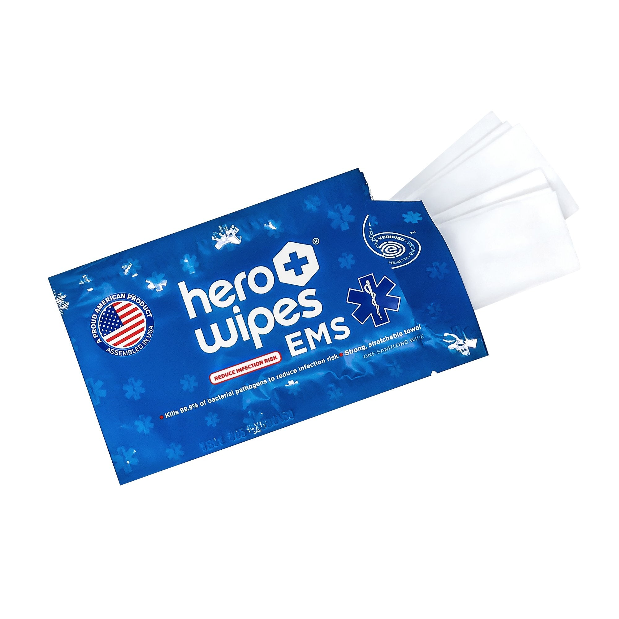 Hero Wipes® EMS Sanitizing Wipes - 250 Individually Wrapped Packets