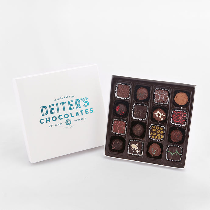 16-piece box of mixed truffles