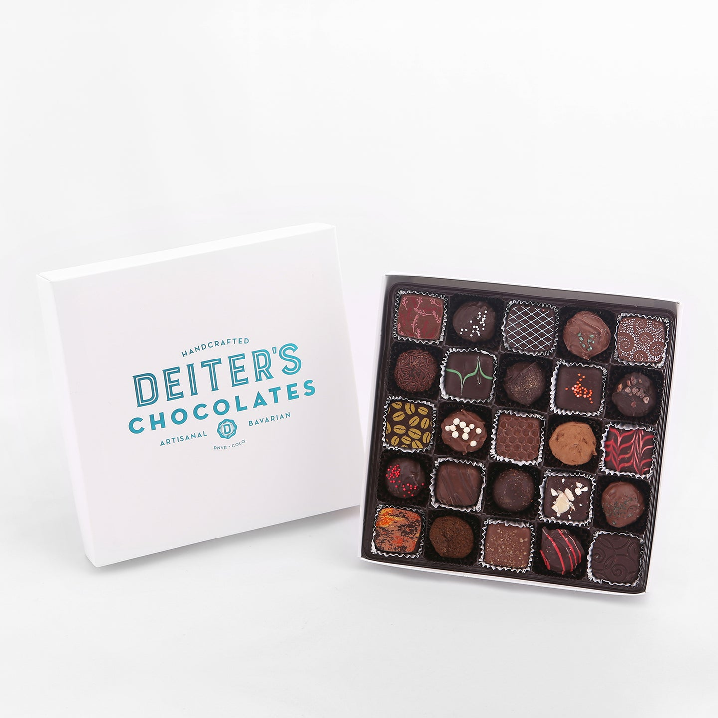 25-piece box of mixed truffles