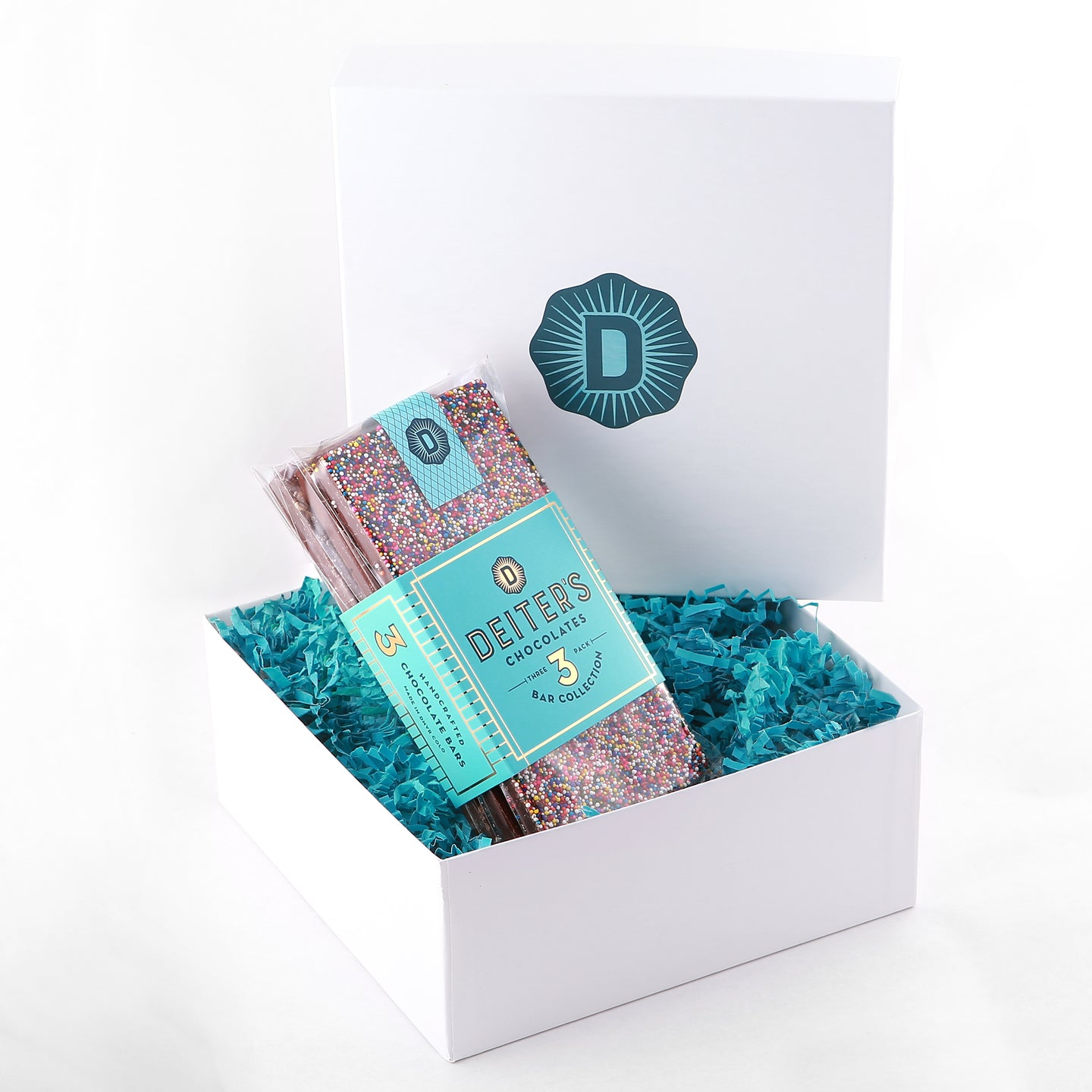 gift box with packaged set of 3 Deiter's bars