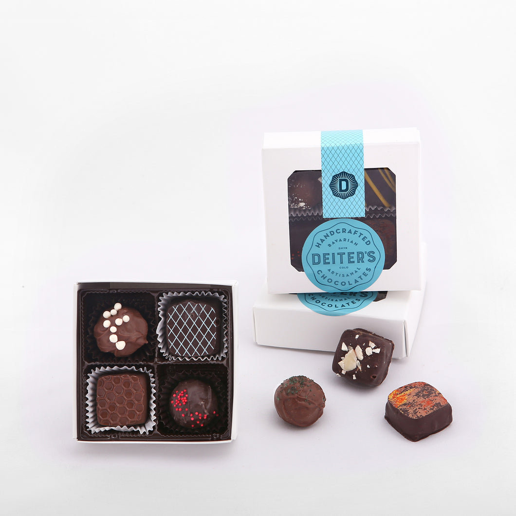 4-piece box of mixed truffles