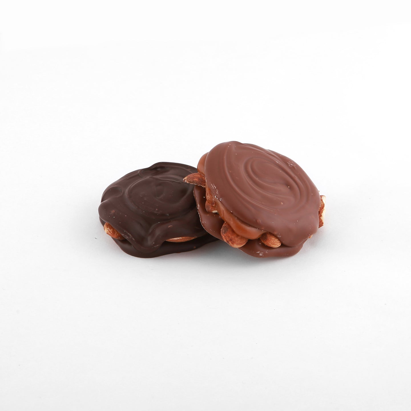 caramel almond turtle coated in chocolate