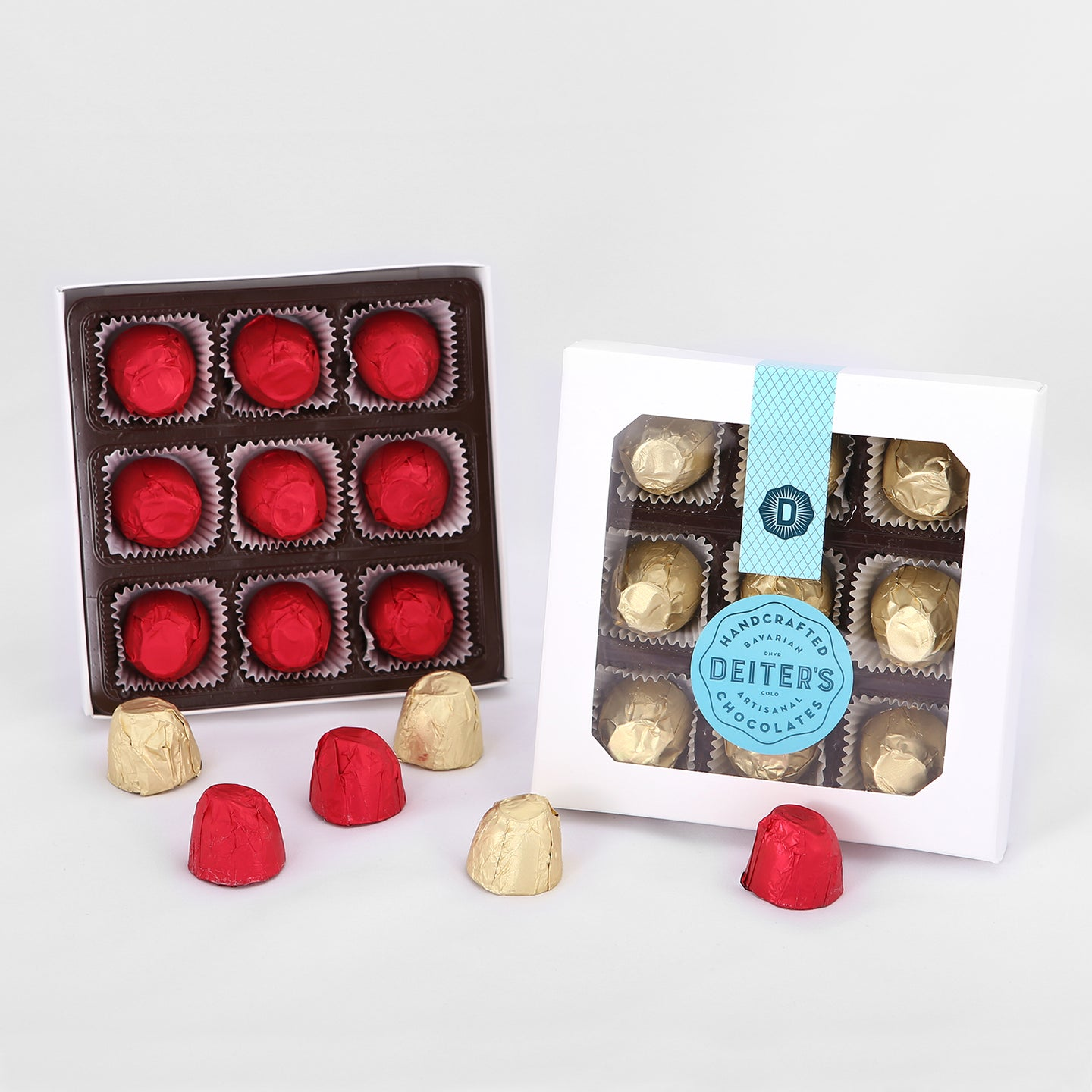 boxes of 9-piece foil-wrapped chocolate-covered cherries