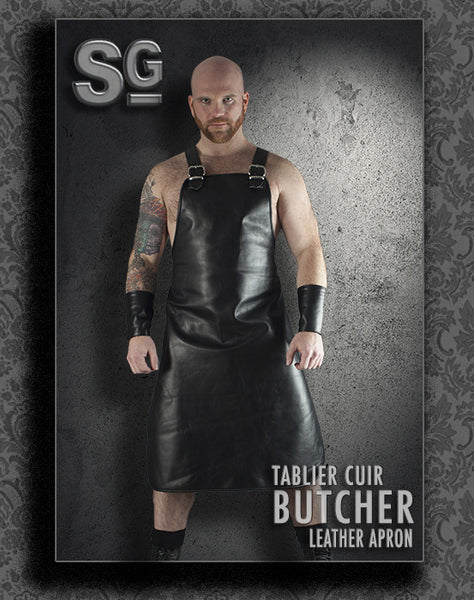 TABLIER ''BUTCHER'' leather apron