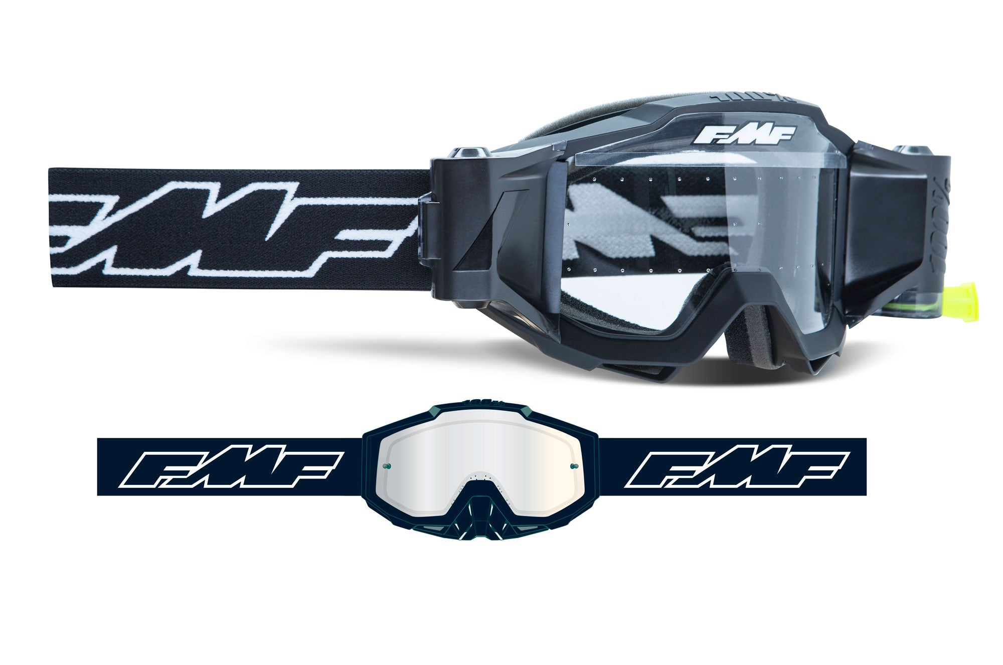 FMF POWERBOMB Film System Goggle - Clear