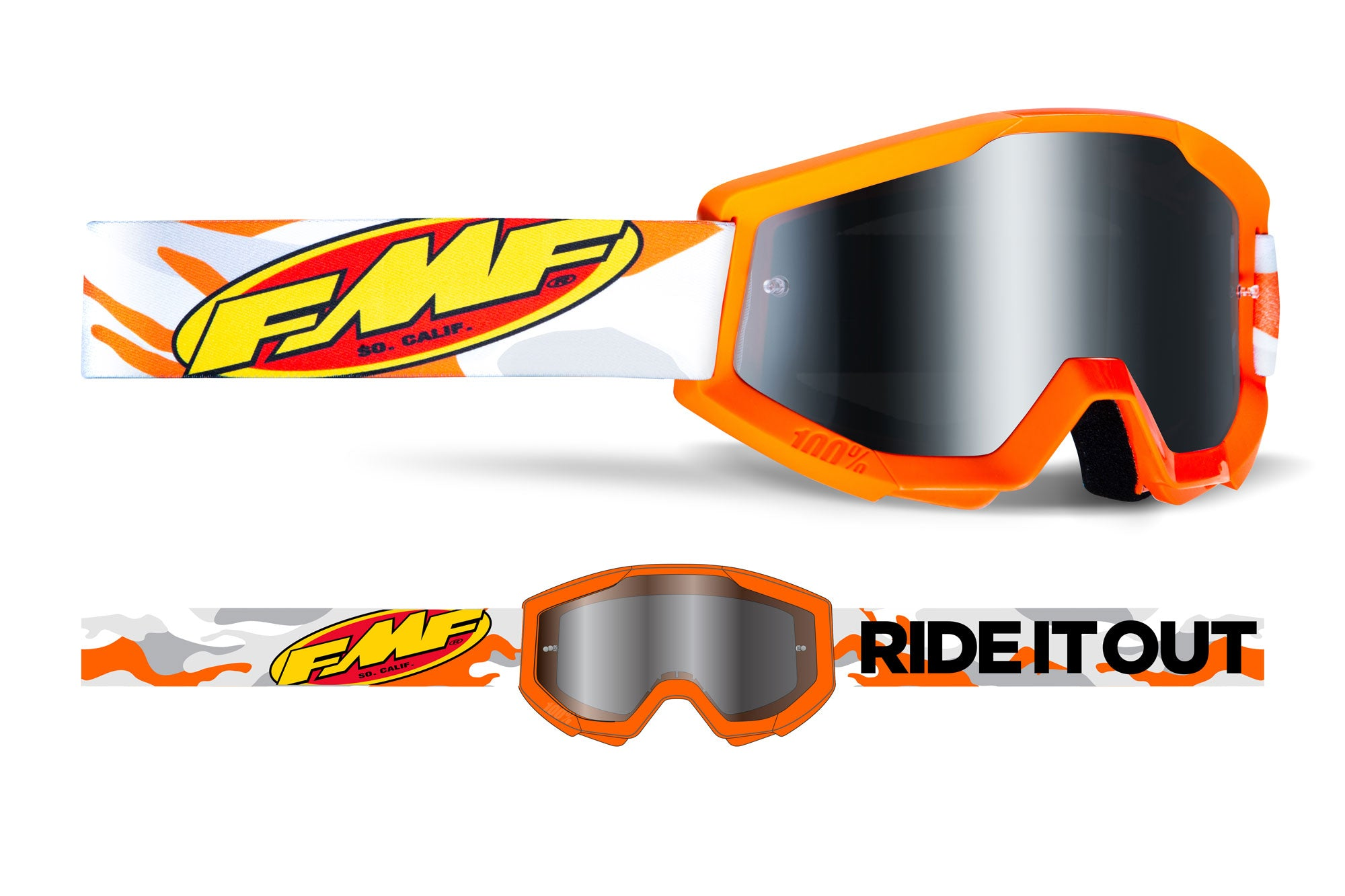 FMF POWERCORE YOUTH Goggle - Mirror