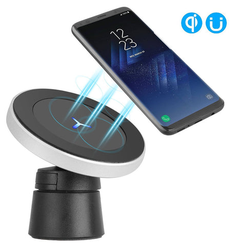 2 in 1 Universal Magnetic Car Phone Wireless Charger