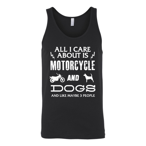 All I Care ABout Is Motorcycle And Dog Tank W - My Sweet Little Boutique