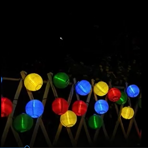 Lantern Ball Solar String Lights 30 LED Solar Lamp - My Sweet Little Boutique