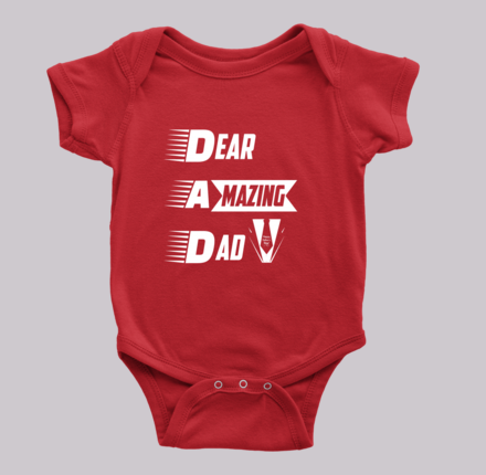 Baby Onesie : Dear Amazing Dad (Exclusiveness) - My Sweet Little Boutique