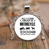 All I Care ABout Is Motorcycle And Dog Necklace - My Sweet Little Boutique