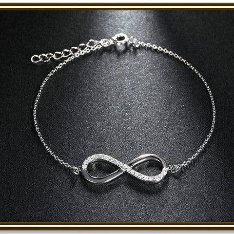 Infinity Pendant Silver Color Necklace for Women