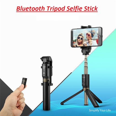 Universal Wireless Bluetooth Selfie Stick Mini Tripod Extendable