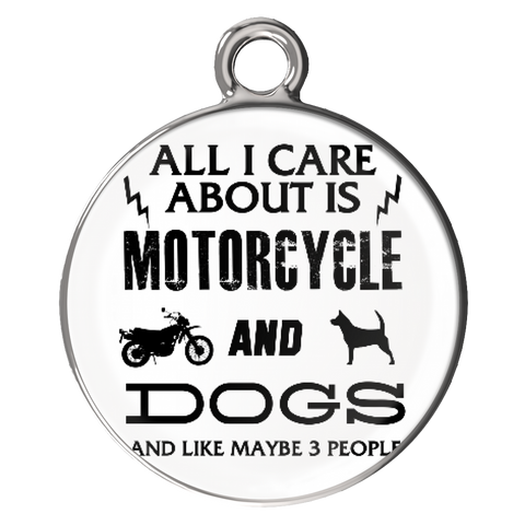 All I Care ABout Is Motorcycle And Dog Bracelet - My Sweet Little Boutique