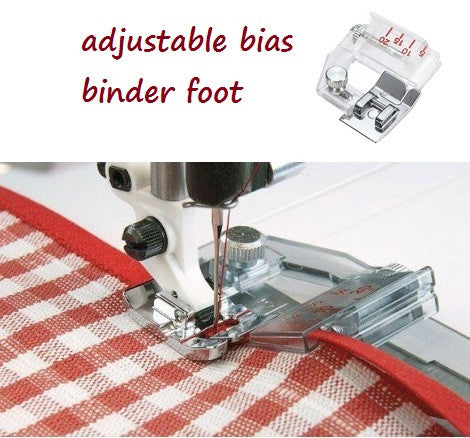 Adjustable Bias Binder Presser Foot for Sewing Machines - My Sweet Little Boutique