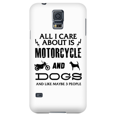 All I Care ABout Is Motorcycle And Dog Phone Case V2 - My Sweet Little Boutique