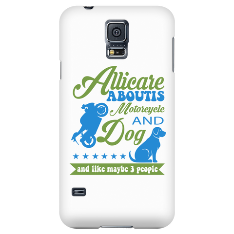 All I Care ABout Is Motorcycle And Dog Phone Case V1 - My Sweet Little Boutique