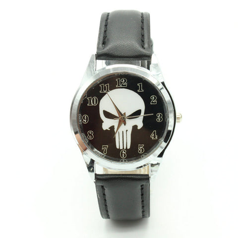 The Punisher Leather Band Watch - My Sweet Little Boutique