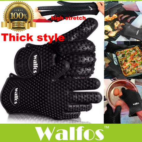 Silicone Heat Resistant Kitchen Oven & BBQ Gloves - My Sweet Little Boutique