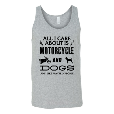All I Care ABout Is Motorcycle And Dog Tank B - My Sweet Little Boutique