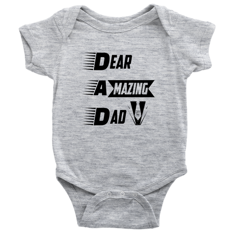 Baby Onesie BL: Dear Amazing Dad (Exclusiveness) - My Sweet Little Boutique