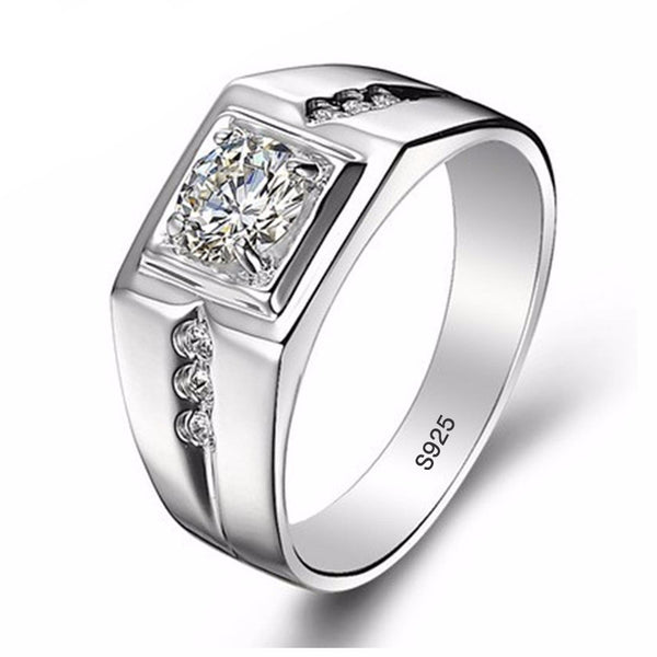 0.75 Carat CZ Diamant Engagement Ring For Men - AskyJewelry.com