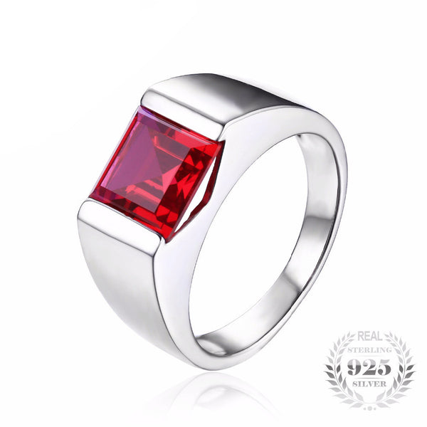 Vintage Love Blood Ruby Ring for Men - AskyJewelry.com
